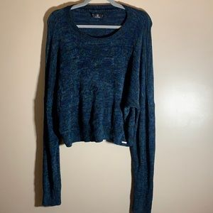 Volcom Blue & Green Cropped Sweater